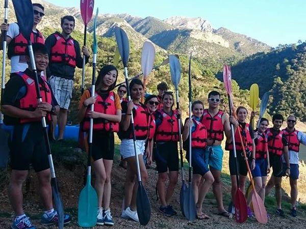 Team4you Galería de fotos Canoa y Kayak. Excursión en Kayak una experiencia inolvidable y maravillosa aprendiendo a remar en el lago de Istán Marbella.