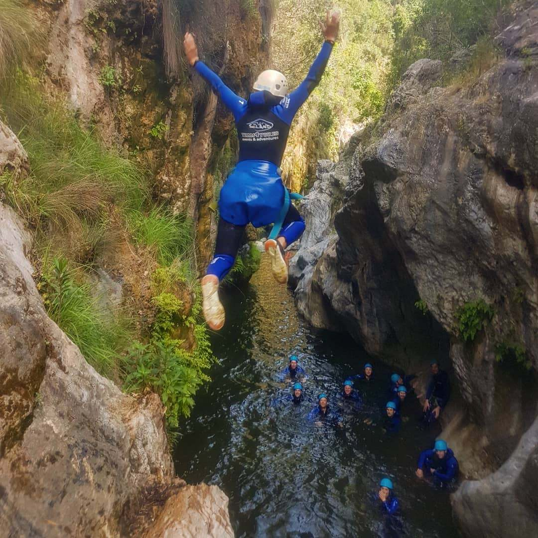 CANYONING LEVEL 1 Canyon descent through waterfall and natural waterslides 04 | Marbella Team4you