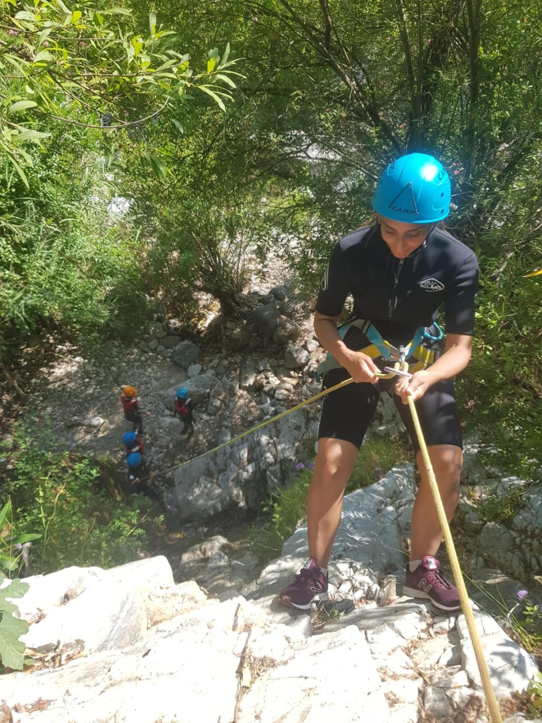 CANYONING LEVEL 1 Canyon descent through waterfall and natural waterslides 07 | Marbella Team4you