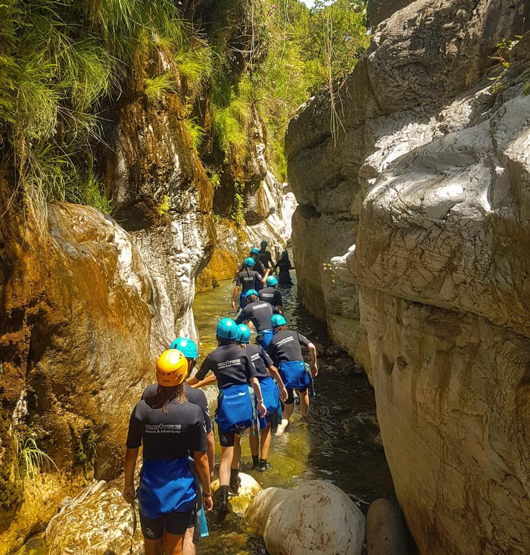 CANYONING LEVEL 1 Canyon descent through waterfall and natural waterslides 08 | Marbella Team4you