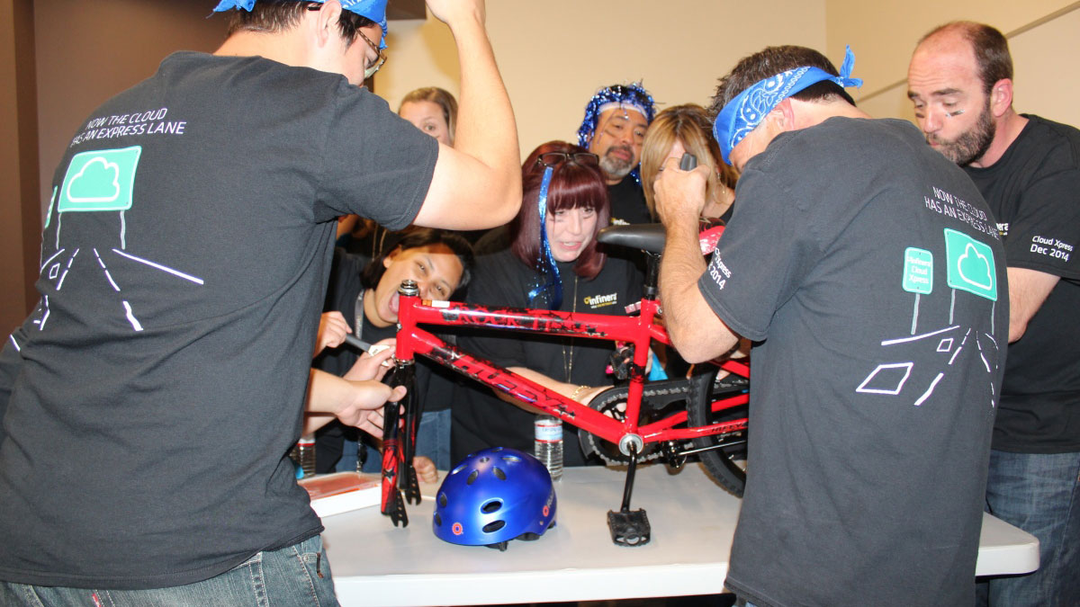 CHARITY BIKE BUILD Marbella Teams construct the ultimate human-powered child's bike 02 | Team4you