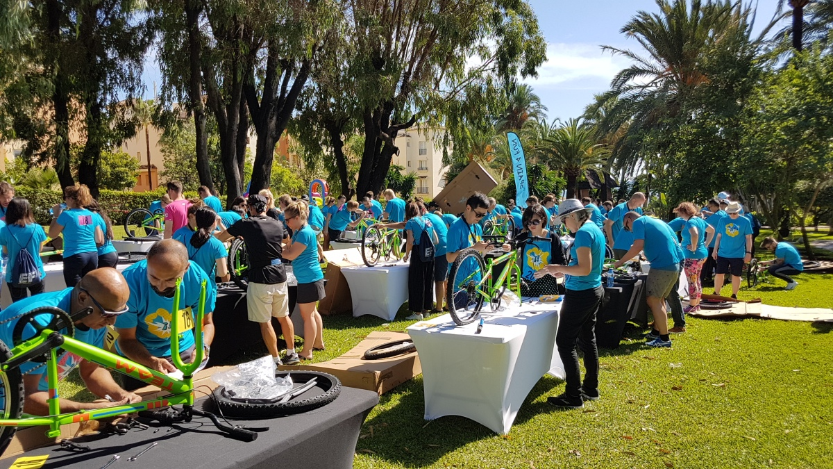CHARITY BIKE BUILD Marbella Teams construct the ultimate human-powered child's bike 05 | Team4you