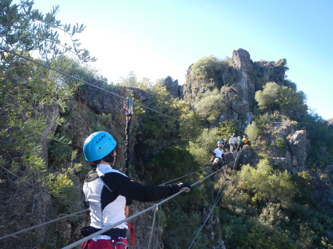 VIA FERRATA Málaga Costa del Sol The Monkey Bridge 05 | Team4you