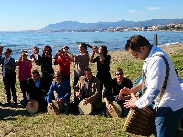 Team4you Galería de fotos DRUM CIRCLE individuals become a team and the team becomes a thriving community. Marbella Málaga Andalucia