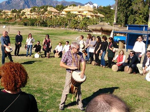 Team4you Galería de fotos DRUM CIRCLE Positive Music team-building drumming workshop in Marbella Málaga Andalucia