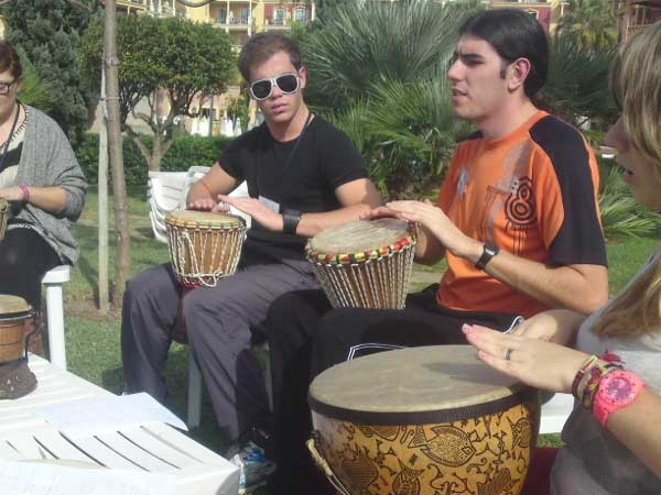 Team4you Galería de fotos Talleres de Percusión 03 Team Building y Eventos de Incentivo Marbella Málaga Andalucía