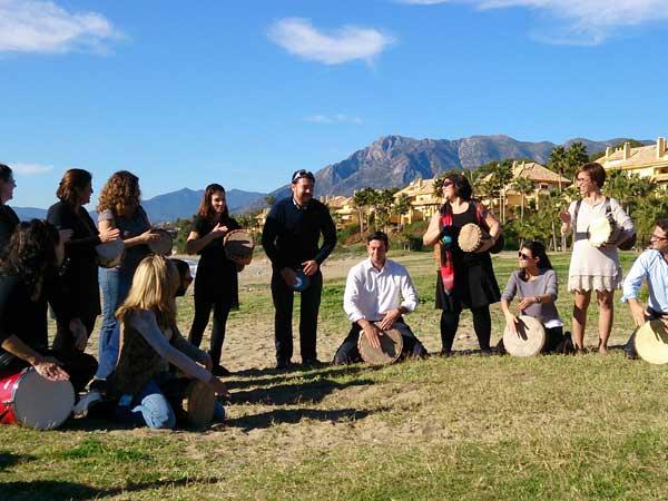 Team4you Galería de fotos Talleres de Percusión 04 Team Building y Eventos de Incentivo Marbella Málaga Andalucía
