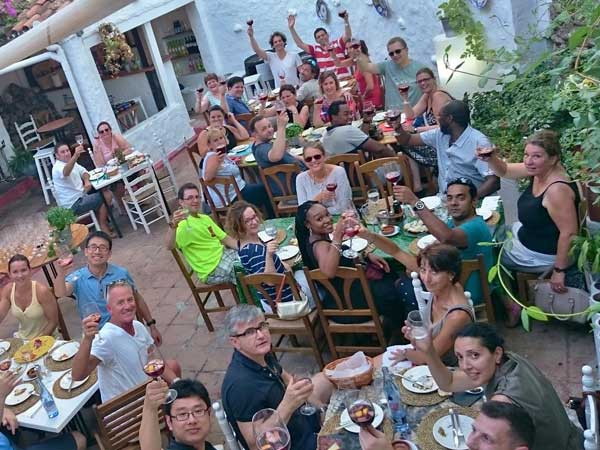 Team4you Photo Gallery Teambuilding and Summer Dinner 01. Summer event and dinner Costa del Sol. Team building treasure hunt Old Town Marbella. Discover center of Marbella.