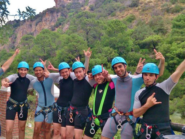 Canyoning Bachelor Party Costa del Sol
