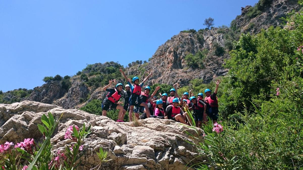 CANYONING Marbella Canyoning Adventure with a lovely group from India. | Team4You