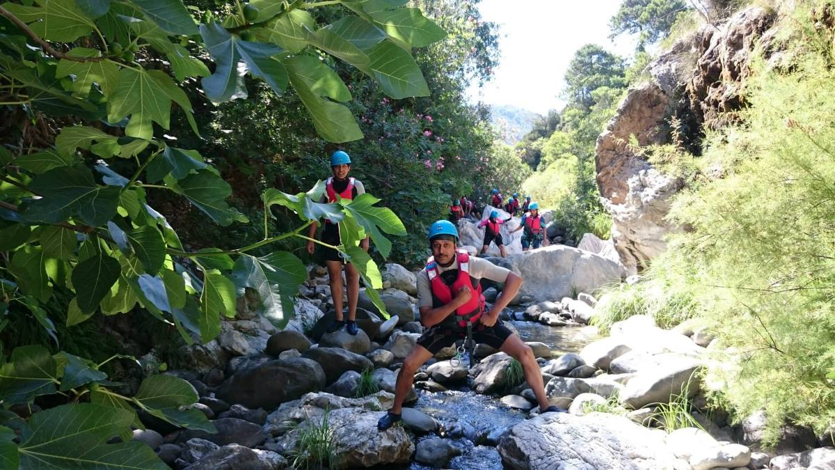 CANYONING Marbella Great Adventure of Canyoning in Guadalmina River. | Team4You