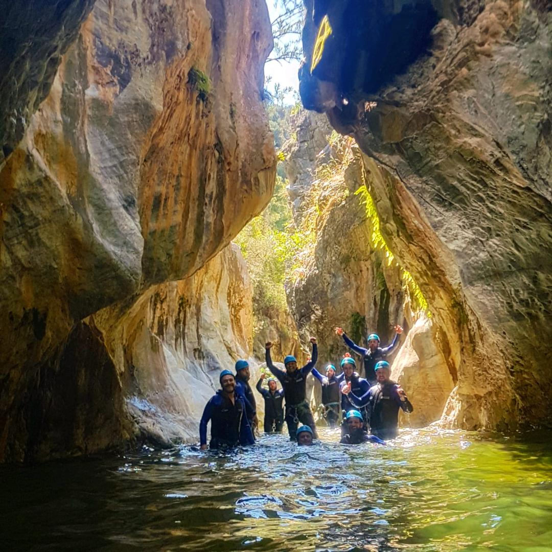 CANYONING LEVEL 1 Canyon descent through waterfall and natural waterslides 02 | Marbella Team4you