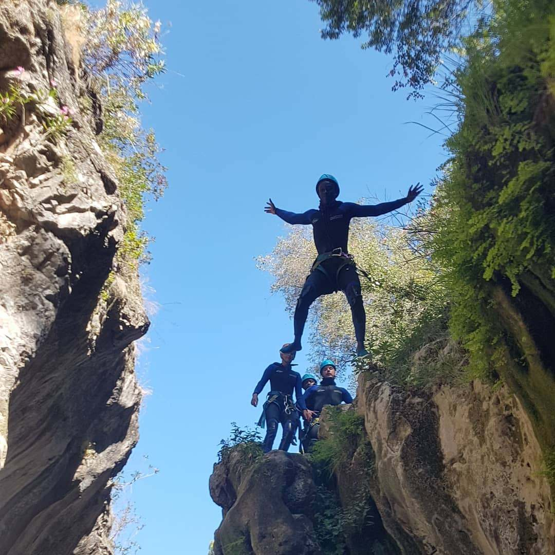 CANYONING LEVEL 1 Canyon descent through waterfall and natural waterslides 03 | Marbella Team4you