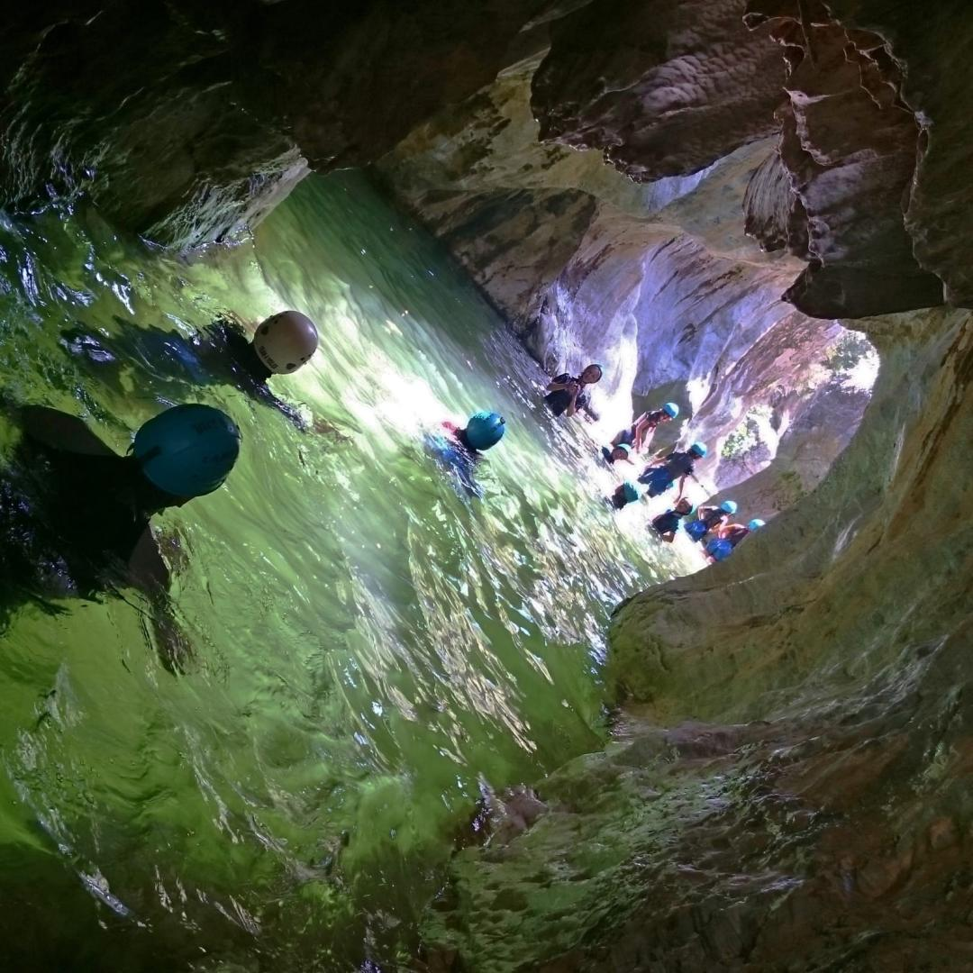 CANYONING LEVEL 1 Canyon descent through waterfall and natural waterslides 05 | Marbella Team4you