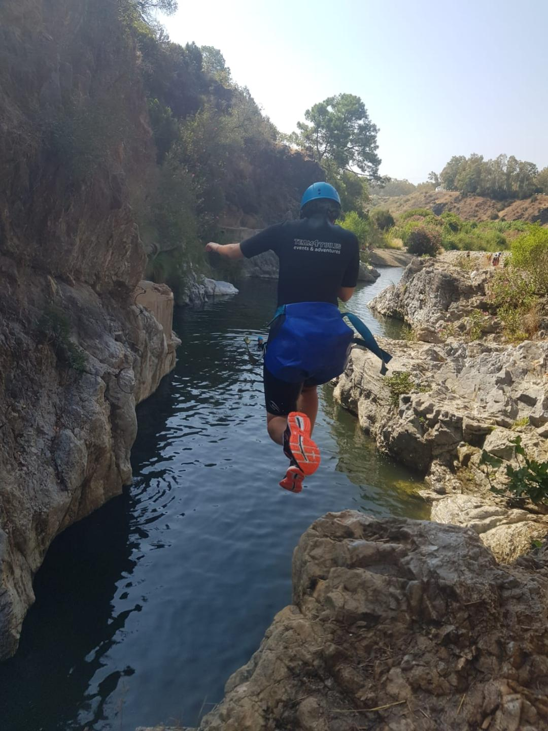 CANYONING LEVEL 1 Canyon descent through waterfall and natural waterslides 06 | Marbella Team4you