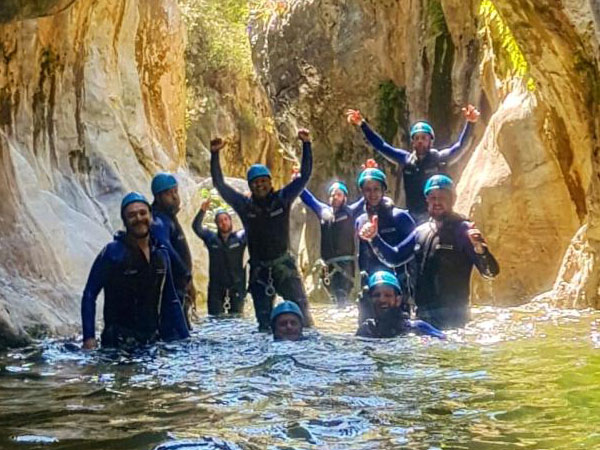 Canyoning adventure with the abseils and waterfalls you can handle