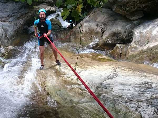 CANYONING A canyon descent through waterfalls, natural waterslides and some wading and swimming 10 | Marbella Team4you