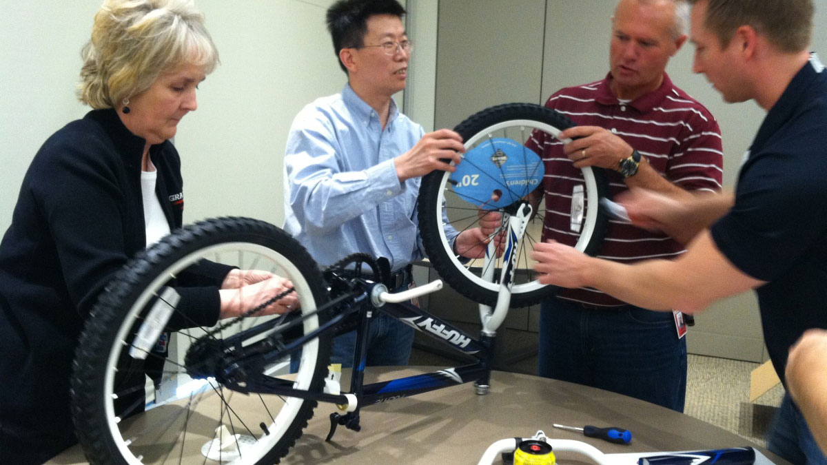 CHARITY BIKE BUILD Marbella Teams construct the ultimate human-powered child's bike 01 | Team4you