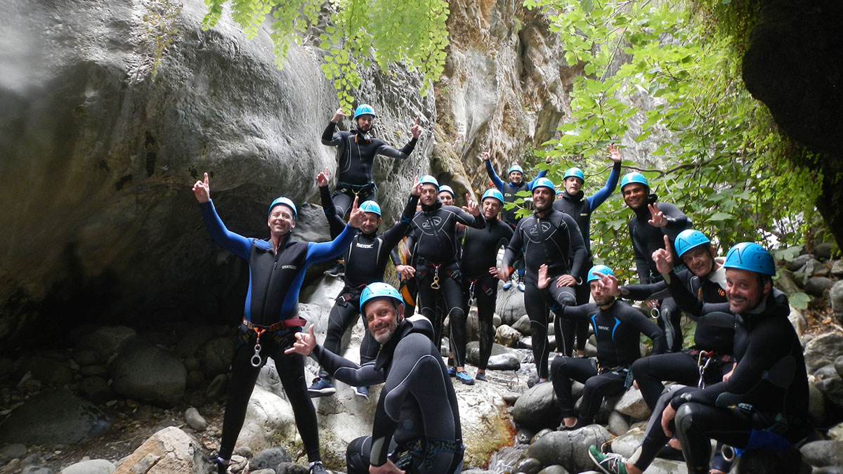 Corporate Canyoning Marbella Canyon Descent a exhilarating and adventurous adrenaline activity. 01 | Team4you
