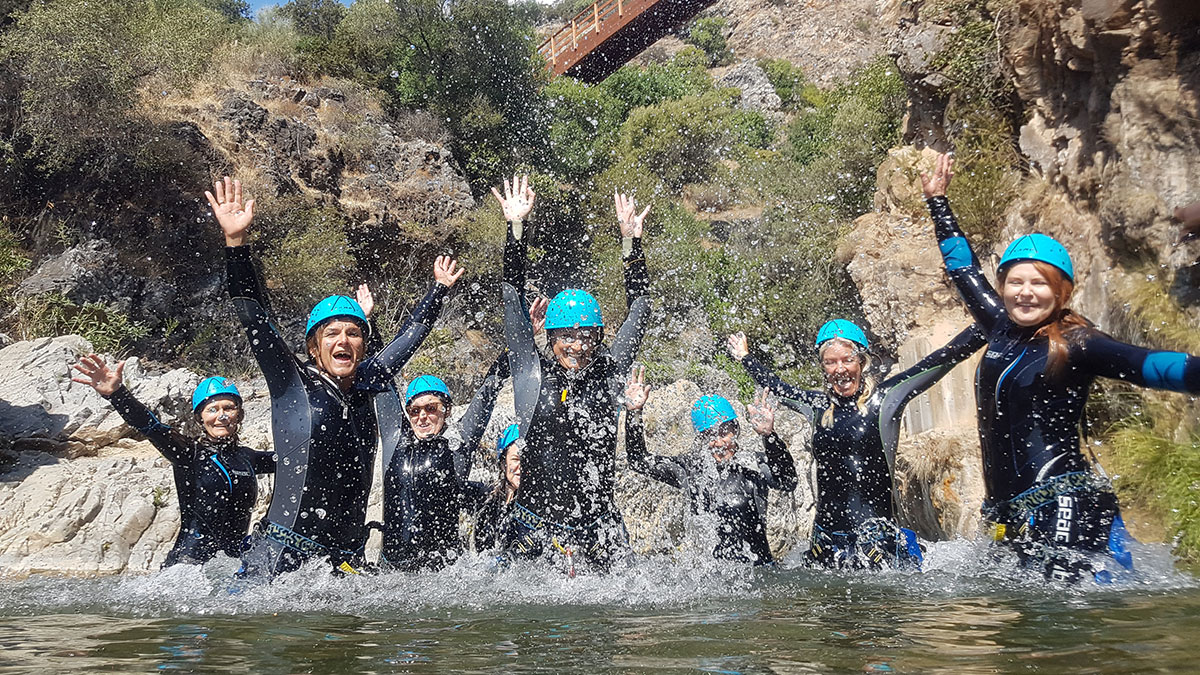 Corporate Canyoning Marbella Canyon Descent a exhilarating and adventurous adrenaline activity. 03 | Team4you