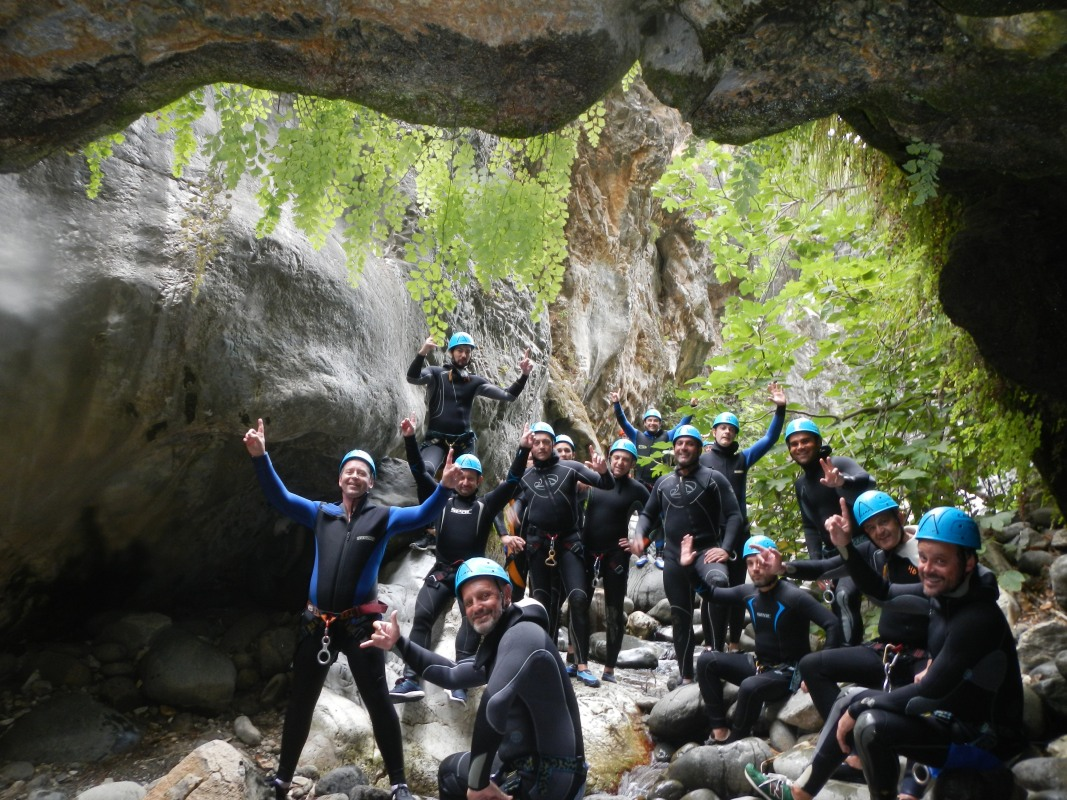 Corporate Canyoning Marbella Canyon Descent a exhilarating and adventurous adrenaline activity. 05 | Team4you