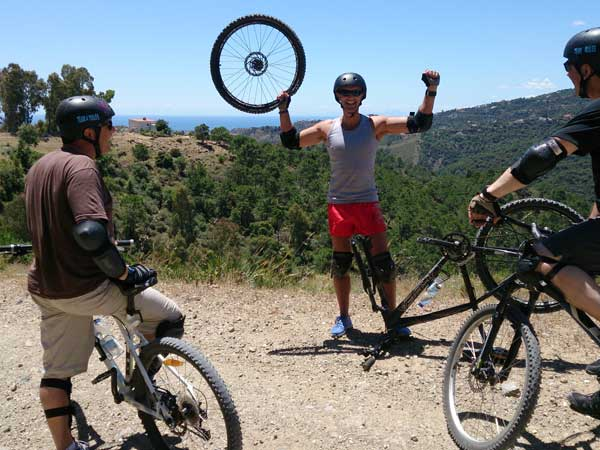 DOWNHILL MTB Málaga Costa del Sol guided mountain bike adventure 03 | Team4you