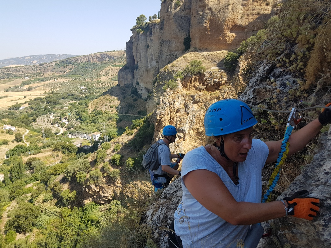 VIA FERRATA basic mountain climbing skills 03 | Marbella Team4you
