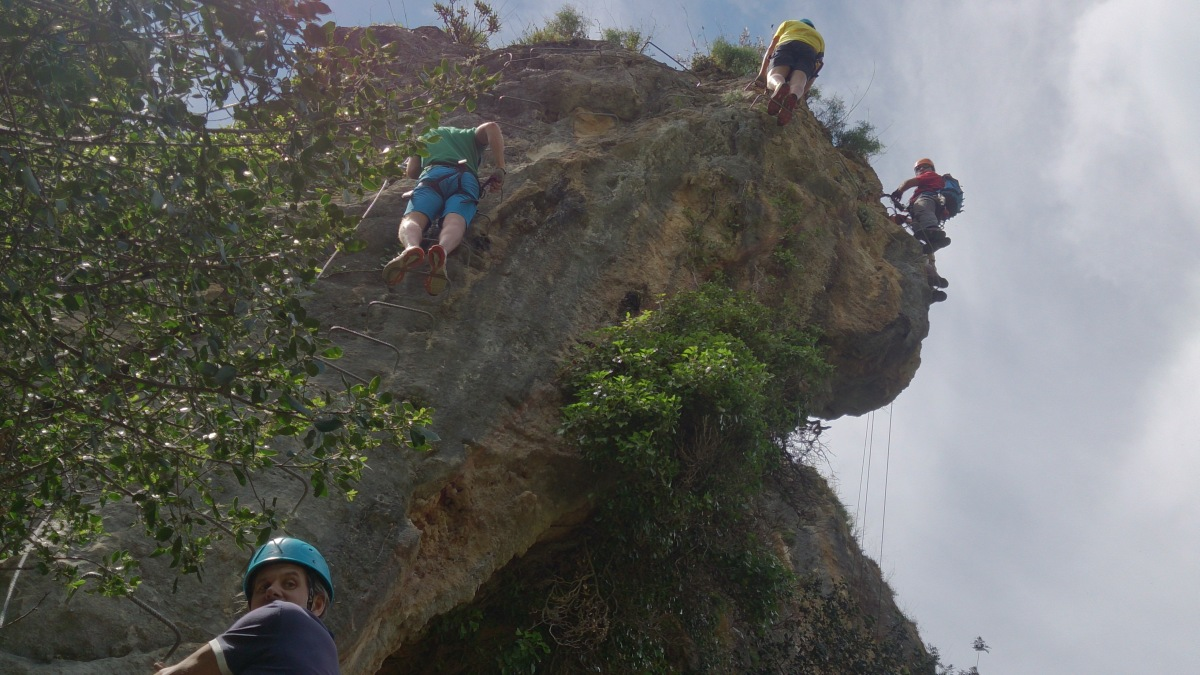 VIA FERRATA basic mountain climbing skills 06 | Marbella Team4you