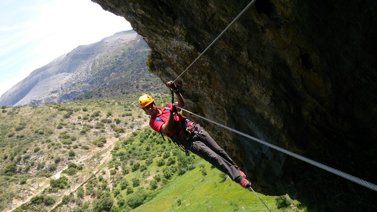 VIA FERRATA basic mountain climbing skills 07 | Marbella Team4you