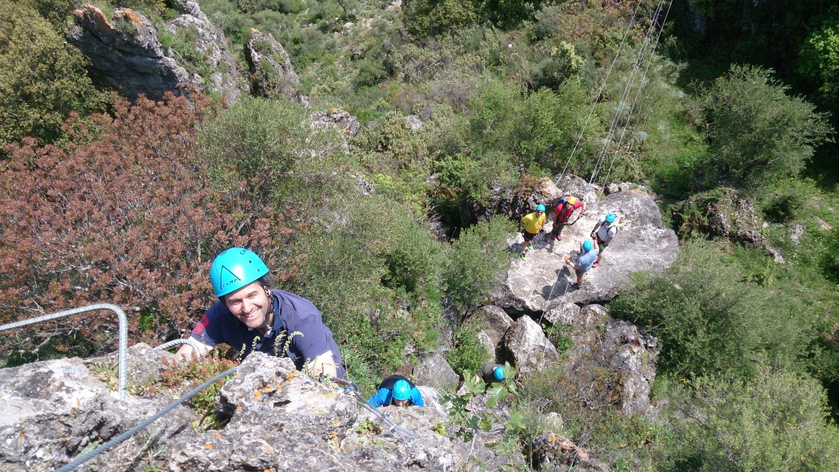 VIA FERRATA basic mountain climbing skills 08 | Marbella Team4you